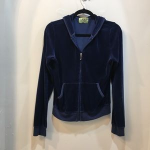 Juicy Couture Navy Velour Track Jacket